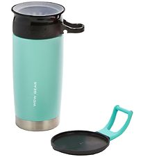 Wow Cup Thermo - Steel - 400 ml - Turquoise/Black