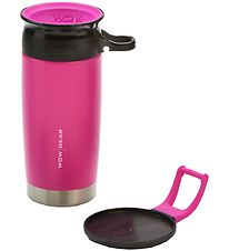 Wow Cup Thermo - Steel - 400 ml - Pink/Black