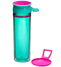Wow Cup Water Bottle - Tritan - 600 ml - Turquoise/Pink