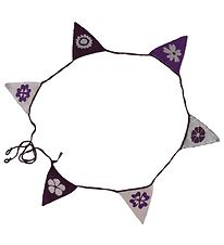 Smallstuff Bunting Banner - Flowers - 240 cm - Purple/Silver