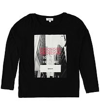 DKNY Blouse - Black w. Photo Print