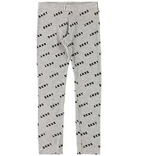 DKNY Leggings - Grey Melange w. Logo