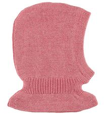 Wheat Balaclava - Wool/Cotton - Double Layer - Rose Melange/Glit