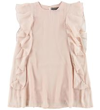 Creamie Dress - Powder w. Ruffles