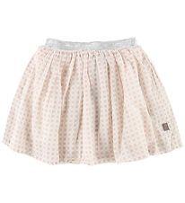 Creamie Skirt - Rose w. Squares