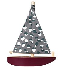 Nofred Boat - Wood - Bordeaux/Grey