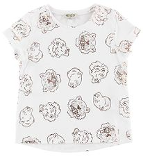 Kenzo T-shirt - White w. Rose Bronze Tigers