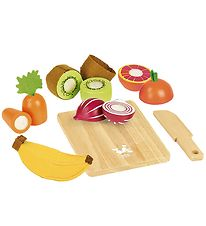 Vilac Play Food - Fruits And Vegetables w. Cutting Board