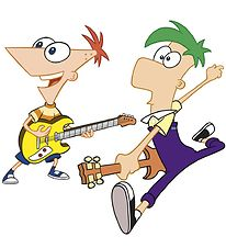 Room Mates Wallstickers - XL - Phineas & Ferb