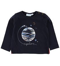 Noa Noa Miniature Blouse - Navy w. Earth