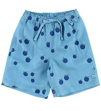 Småfolk Swim Trunks - UV50+ - Blue w. Apples