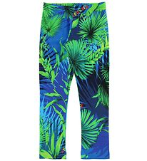 Young Versace Leggings - Blue/Green w. Plants