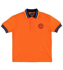 Young Versace Polo - Orange w. Medusa