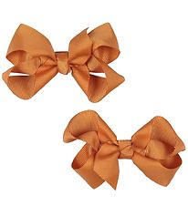 Bows By Stær Bow Hair Clips - 2-Pack - 8 cm - Orange
