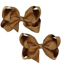 Bows By Stær Bow Hair Clips - 2-Pack - 10 cm - Light Brown