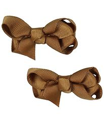 Bows By Stær Bow Hair Clips - 2-Pack - 6 cm - Light Brown