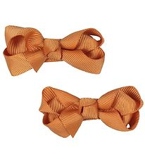 Bows By Stær Bow Hair Clips - 2-Pack - 6 cm - Orange