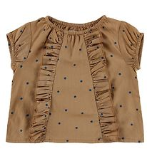 MarMar Top - Twilla - Caramel Dot