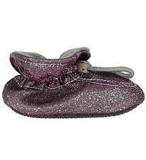 Melton Slippers - Purple Glitter