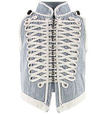 Stella McCartney Kids Waistcoat - Blue/White Striped