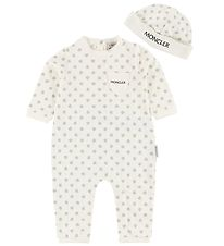 Moncler Gift Box - Jumpsuit/Beanie - White/Grey