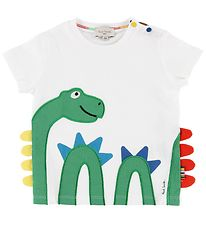 Paul Smith Baby T-shirt - Telmo - White w. Sea Serpent