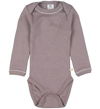 Smallstuff Bodysuit L/S - Dusty Purple w. Heart