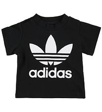 adidas Originals T-shirt - Trefoil - Black w. Logo