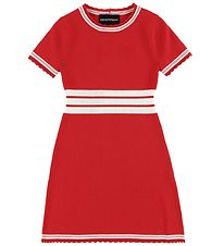 Emporio Armani Dress - Viscose - Knitted - Red/White Striped