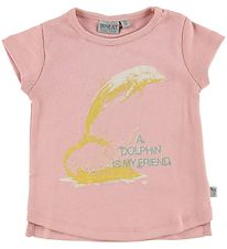 Wheat T-shirt - Rose w. Dolphin
