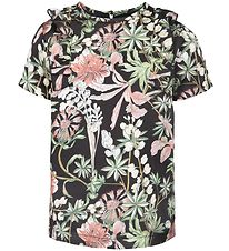 Petit by Sofie Schnoor T-shirt - Black w. Flowers