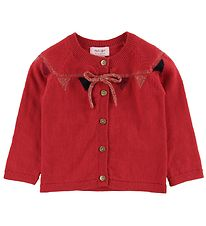 Noa Noa Miniature Cardigan - Red/Gold w. Bow