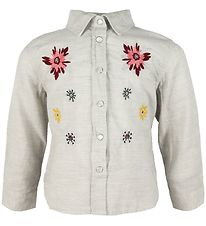Small Rags Shirt - Grey Melange w. Flowers