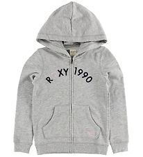 Roxy Zip Thru Hoodie - Love My Pyppu - Grey Melange