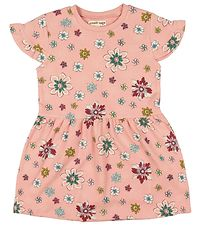 Small Rags Dress - Rose w. Flowers