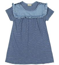 En Fant Dress - Blue Melange Striped