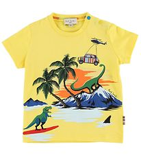 Paul Smith Baby T-shirt - Tim - Yellow w. Print
