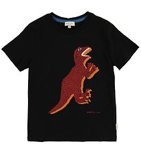 Paul Smith Junior T-shirt - Tyrell - Black w. Dinosaur