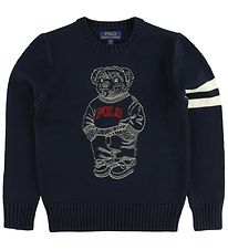 Polo Ralph Lauren Blouse - Knitted - Navy w. Teddy