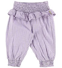 Hust and Claire Trousers - Trine - Purple w. Check