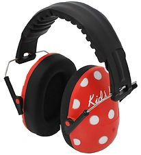 A-safety Earmuffs - Red w. Dots