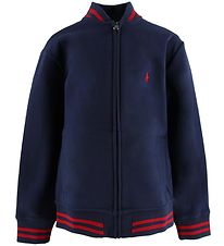 Polo Ralph Lauren Zip Cardigan - Navy w. Red