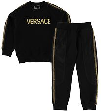 Young Versace Tracksuit - Black w. Gold