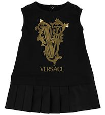 Young Versace Dress - Black w. Gold