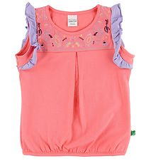 Freds World Top - Coral/Lavender