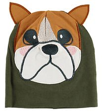 Freds World Beanie - Army Green w. Bulldog