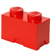 Lego Storage Storage Box - 2 Knobs - Red