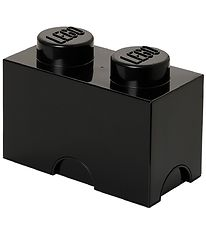 Lego Storage Storage Box - 2 Knobs - Black