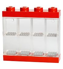 Lego Storage Minifigure Display Case - 8 Rooms - 19 cm - Red