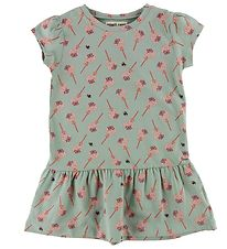 Small Rags Dress - Mint Green w. Print